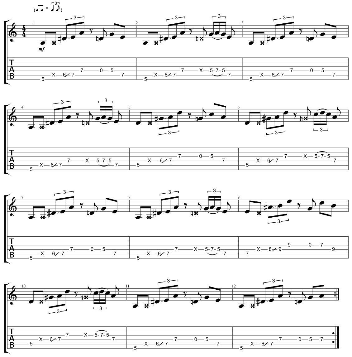 Cool Blues Shuffle Riff 5