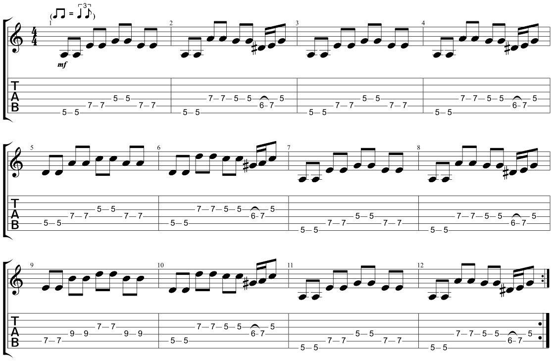 Blues Riff Shuffle 3