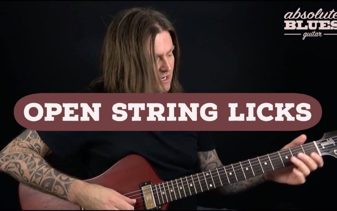 Open String Blues Guitar Licks