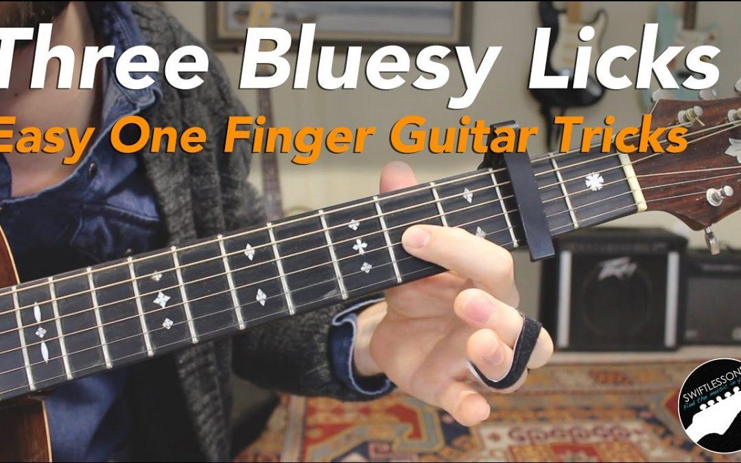 Classic One-Finger Blues Guitar Licks Lesson
