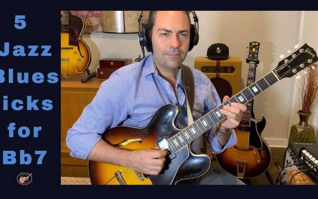 5 Jazz/Blues Guitar Licks for Bb7