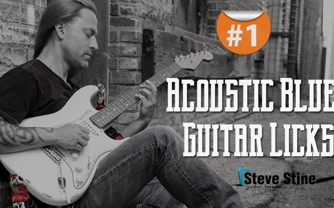 Steve Stine Guitar Lesson – Simple but Effective Acoustic Blues Guitar Licks part 1
